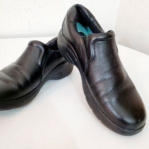 "Nurse Mates ""Dove"" Black Leather Slip On Shoes"